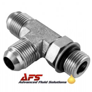 7/16 JIC x 7/16 UNF Male Tee 3 Way Positional on Run Hydraulic Adaptor Connector Fitting from Afs Hoses UK AN